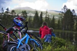 sykkel familie